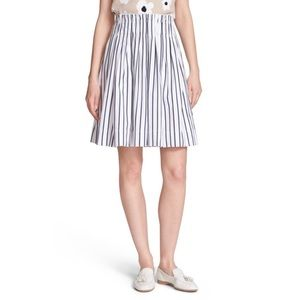 Kate spade New York Cotton Stripe Skirt